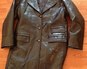 Versace Black Leather Jacket / Super Soft/ Unisex