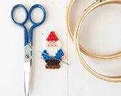 Gnome Friend beaded magnetic needleminder, embroidery, sewing notion