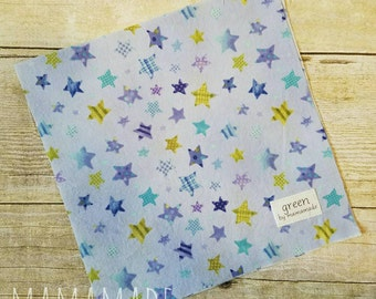 Stars on Blue - Reusable Sandwich Bag | Snack Bag | Waterproof | Travel Bag from green by mamamade