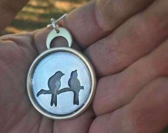 Personalized Bird on a Wire necklace