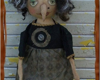 Welcome Spring Sale Primitive Helga The Horrible Witch With Wart