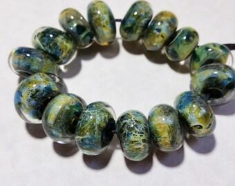 Lampwork Borosilicate Beads AGGREGATE Two Sisters Designs 102316B