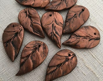 Renaissance Copper Leaf Pendant