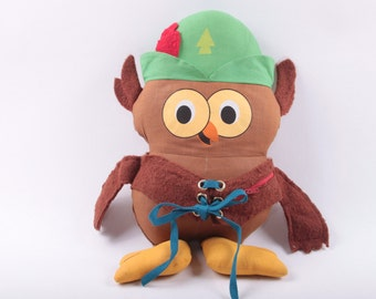 Vintage, Woodsy The Owl, Plush, Original Give a Hoot- Don't Pollute! Brown Owl ~ The Pink Room ~ 161119
