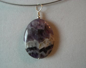 Amethyst and Sterling Pendant