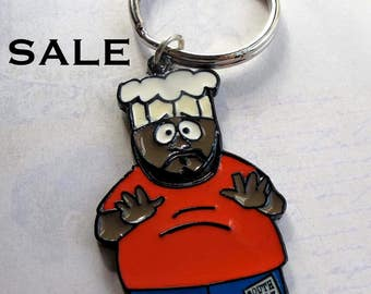 South Park Chef Key Chain Pendant (1X) (J545) SALE - 25% off