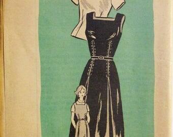 Vintage Sewing Pattern Printed Pattern 4636 Mail Order Pattern Misses Blouse & Jumper Pattern Size 16 Uncut