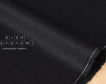 Japanese Fabric Wool Twill - black - 50cm