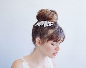 Bridal hair comb -Petite opal blossom burst comb - Style 784 - Ready to Ship