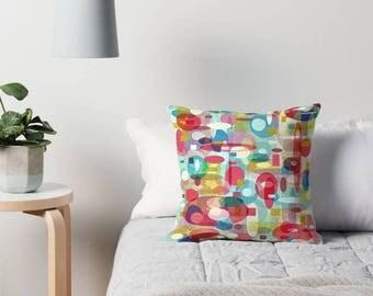 Mid Century Modern, Throw Pillow Cover, Modern Pillow Cover, Art Pillow, Modern Pillow, Retro Pillow, Geometric Pillow, Abstract Pillow