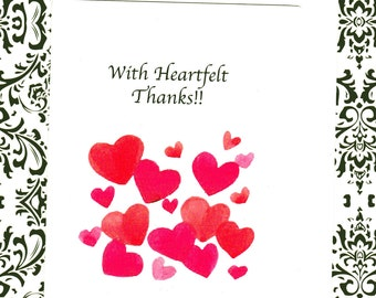 With Heartfelt Thanks!! Greeting Card