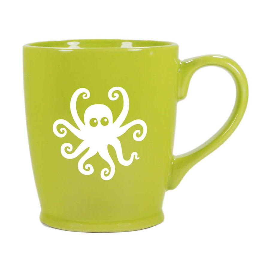 Octopus Mug - Light Green