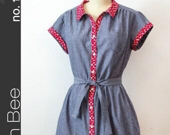 Green Bee Design & PATTERN - Frances Dress - XS - XL