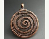 SALE Mykonos Pendant Greek Pendant Bronze Spiral of Life Pendant 30mm Pagan Wicca Wiccan Magick Magic Naos
