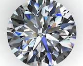 NEO moissanite - diamond cut round moissanite, near colorless moissanite, loose stones