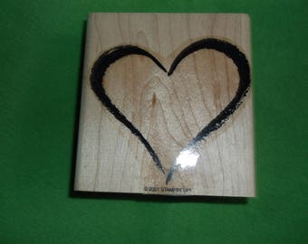 Stampin Up Large Heart Rubber Stamp