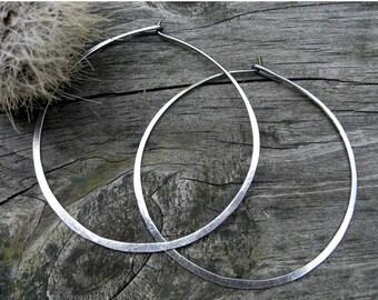 20% OFF Today 2 Inch Sterling Silver Hoop Earrings