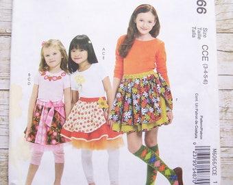 Mc Calls 6066 skirt sewing pattern sizes 3-4-5-6 uncut