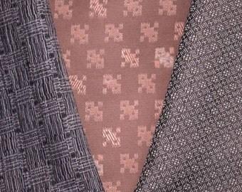 Vintage Japanese Kimono Fabric Bundle 3 Sleeve Mix Crafting - Heavy Duty