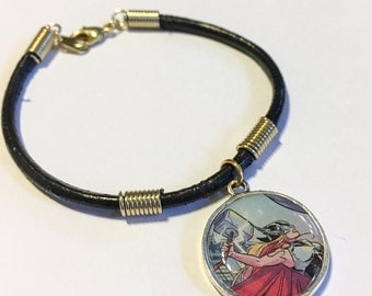 Recycled comic book charm bracelet Thor Jane Foster inspired