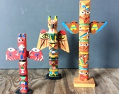 Set of 3 1950s Tabletop Totems