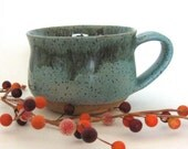 Ceramic Mug - Coffee Mug - Stoneware Mug - Bare Bottom - 12 oz - Ready to Ship - Wheel Thrown Stoneware Pottery