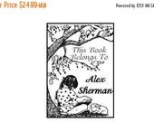 Gift for Grads 15% Off Personalized Girl Reading Ex Libris Library Rubberstamp A31