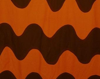 Vintage 60s MOD Marimekko wavy Lokki vintage table cloth or repurpose