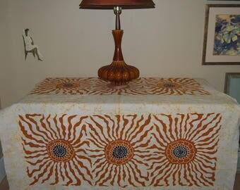 RARE handpainted vintage batik fabric African Indonesian Javanese primitive design