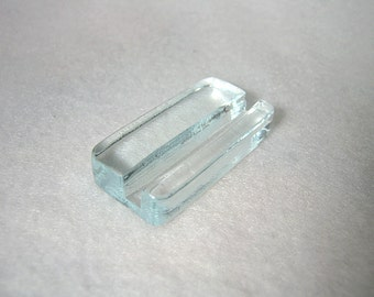 Minimalist Business Card Holder, Glass Card Holder, Business Card Stand, Office Accessory