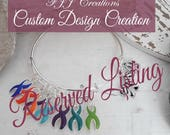 Reserved For: Tracy - 1x Custom charm wire bracelet