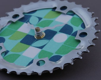 Bicycle Gear Clock - Modern Petal | Bike Clock | Wall Clock | Recycled Bike Parts Clock