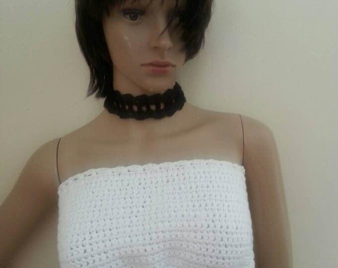 Crochet choker, chocker,  crochet necklace, necklace,  boho necklace, festival clothing, wedding, gypsy necklace, hippie necklace
