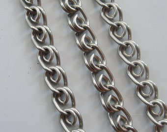 Rhodium plated Novelty  chain  3.3 ft / 1 meter Large Chain