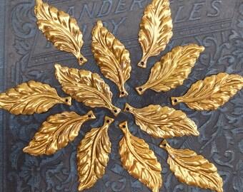 14 Vintage Metal Leaf Supply Findings