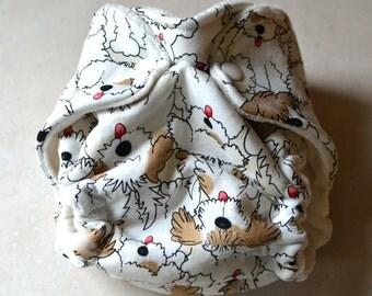 Shaggy Puppy Newborn Fitted cloth diaper