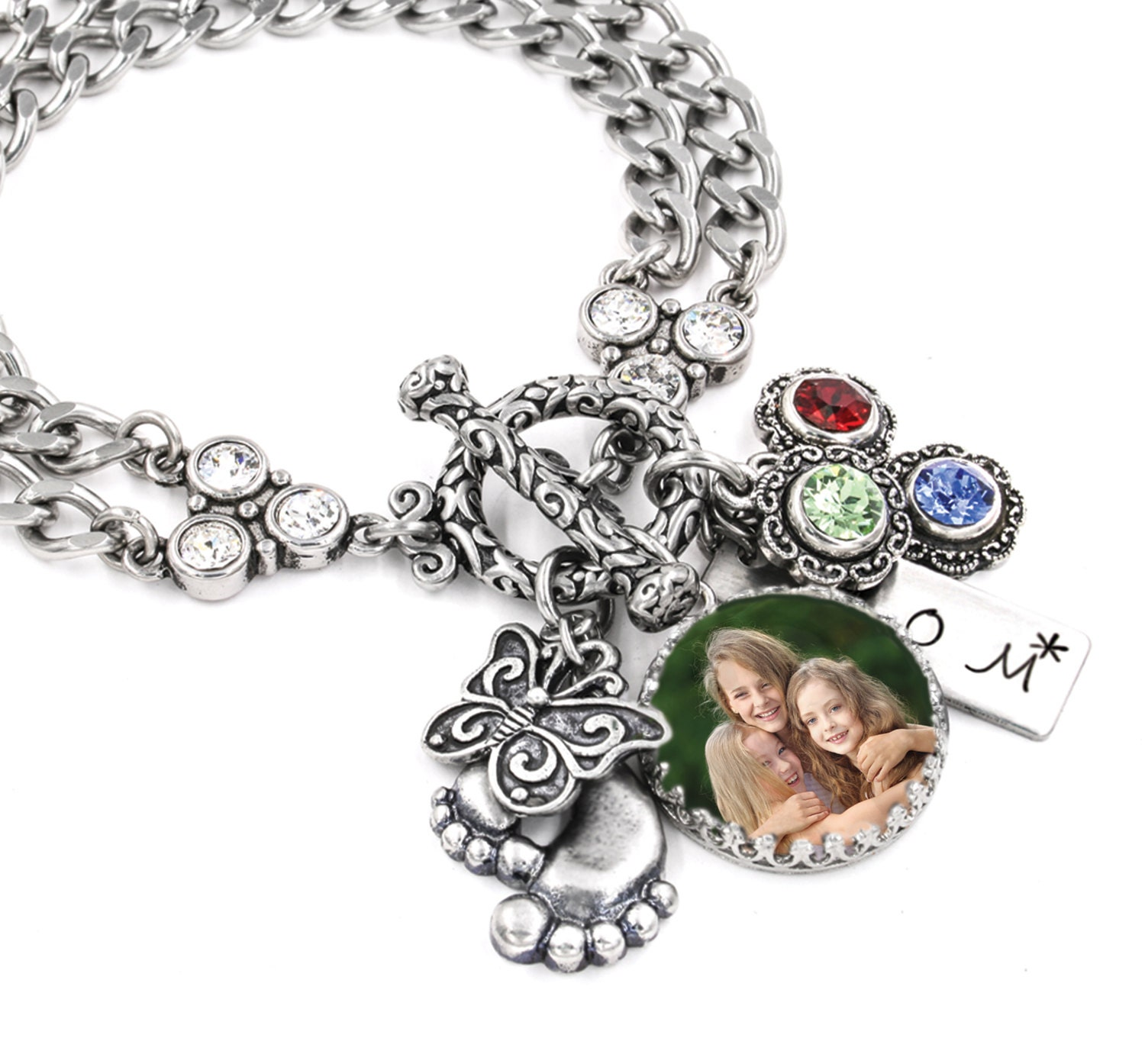 Mothers Charm Bracelet: Personalized Mothers Day Jewelry Mother's Day Gift
