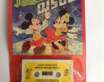 Vintage Disney Mickey Mouse Disco cassette tape