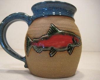 Smaller Size Salmon  Mug  ..............                              a39