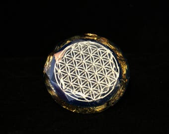 Giant Gem Flower Of Life Huge Diamond Orgone Energy Generator