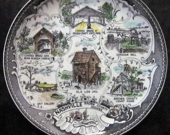 Vintage Souvenir Plate - Nashville, Indiana