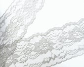 Gray Lace Trim 4 in. wide, 5 yds, Wedding, Table Runners, Bows, Invitations, Lace Runner, sewing