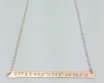 straight bar necklace