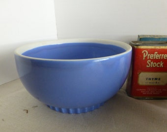 Hall French Blue Pottery Bowl 7 inch