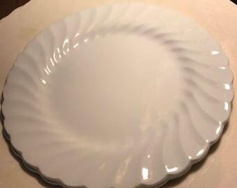 Snowhite Regency Swirl Bread Plate Johnson Bros 6 inch set of 4