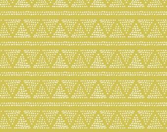 Plotted Farm Moss - Cultivate - Art Gallery Fabrics - Bonnie Christine - CUL-8671 - Triangles Geometric Blender