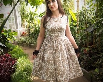 Gloomth Sepia Damask Dress size small IN STOCK