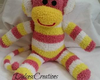 sally the sock monkey ready to ship