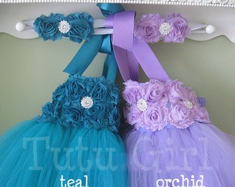 CUSTOM Flower Girl Dress, Tutu Dress Toddlers Girls Baby - Choose Your Own Colors