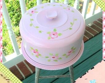 Cake Saver, Vintage Cake Cover, Refurbished Cake Saver, Shabby Chic, Upcycled Vintage Cake Saver